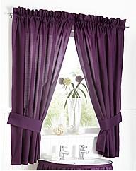 Plain Dye Curtain Set & Tie Backs