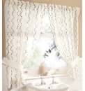 Waves Lined Curtain Set With Tie Backs