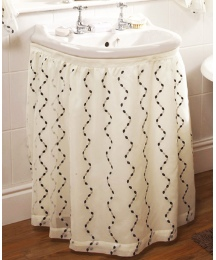 Waves Lined Voile Sink Surround