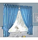 Butterflies Lined Voile Curtain Set