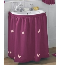 Butterflies Lined Voile Sink Surround