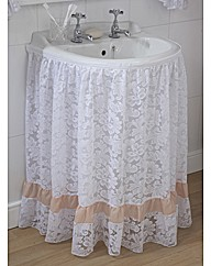 Romantic Lace Washbasin Curtain