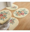 Rose Chintz Printed Bath Mat Sets