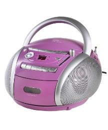 JDW Portable CD Radio Cassette - Pink