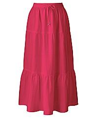 Linen Blend Skirt Length 25in