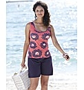 Pack of 2 Print And Plain Jersey Vests