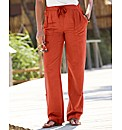 Cargo Linen Trousers 29in
