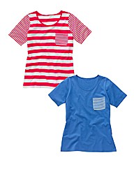 Pack of 2 Stripe T Shirts