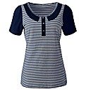 Striped T-Shirt with Contrast Sleeves