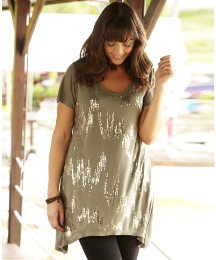 Sequin Dipped Hem Top