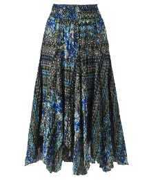 Dipped Hem Printed Skirt