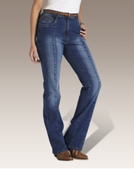 Bootcut Jeans with Plaited Belt 30in