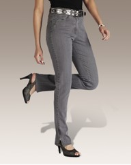 Slim Leg Jeans With Zips 31in
