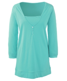 Cotton Jersey Three Quarter Sleeve Tunic