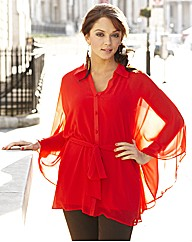 Cape Button Blouse