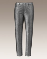 Metallic Skinny Jeans Length 30in