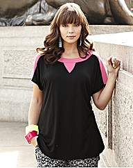 Jersey T with Neon Colour Block