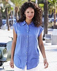 Short Sleeve Spot Print Tunic 74cm