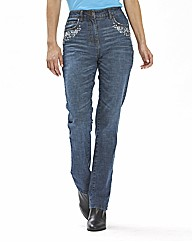 Brooke Diamante Jeans Length 27in
