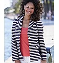 Striped Blazer With Side Panels