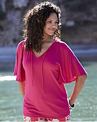 Jersey Top With Angel Sleeves