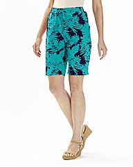 Floral Print Linen Mix Shorts
