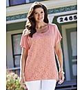Jersey Top with Lace Detail