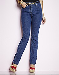 Lower Rise Straight Leg Jeans 27in