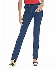Lower Rise Straight Leg Jeans 33in