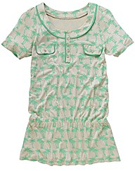 T-Shirt with Palm Tree Print
