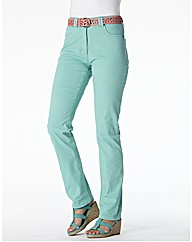 Coloured Straight Leg Jeans Length 25in
