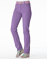 Coloured Straight Leg Jeans Length 29in
