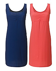 Pack of 2 Plain Jersey Dresses