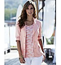 Jersey Blazer with Print Cuff