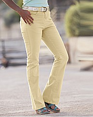 Coloured Bootcut Jeans 28in