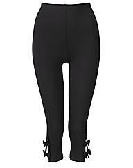 Crop Leggings With Bow Detail 19in