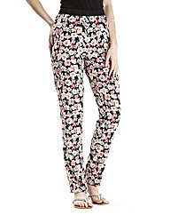Floral Print Trouser 27in