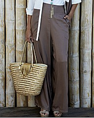 Palazzo Plain Trousers 30in