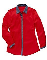 Chambray Trim Shirt