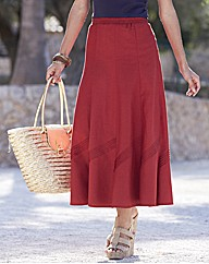 Linen Blend Skirt 30in