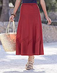 Linen Blend Skirt 33in