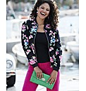 Floral Bomber Jacket
