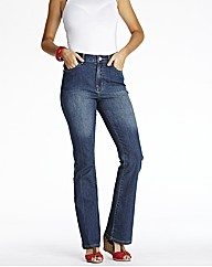 Embroidered Bootcut Jeans Length 32in