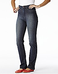 Jersey Straight Leg Jeans Length 27in
