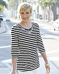 Embellished Stripe Top