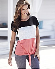 Colour Block Jersey Top