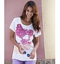 Lace Print T-Shirt 28in
