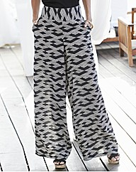 Palazzo Print Trousers 28in