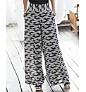 Palazzo Print Trousers 30in