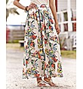 Butterfly Print Maxi Skirt
